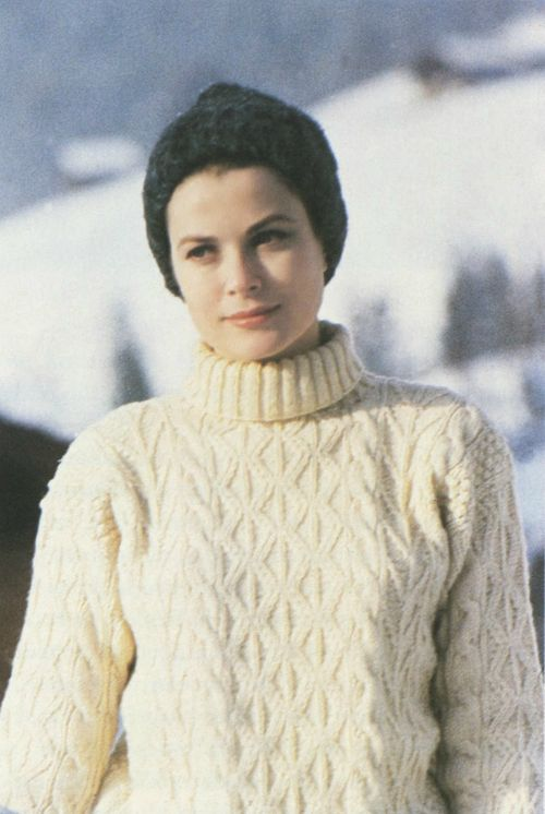 Princess Grace - cable knit can be tirelessly elegant in a casual context.