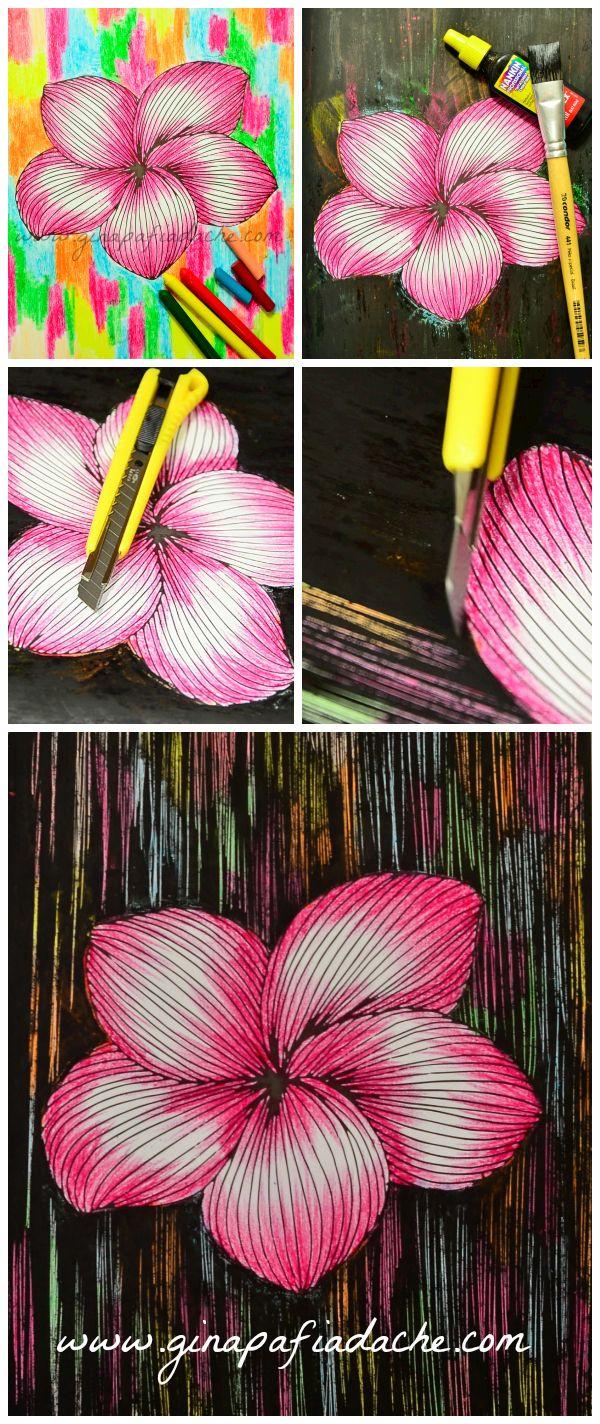 Atelier Gina Pafiadache: Livros de Colorir: Textura com Giz de Cera + Nanki...