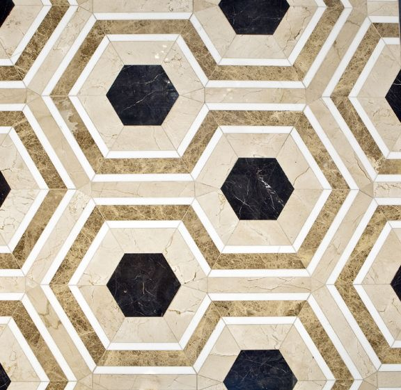 Fiorentina is one of the nine designs in the David Hicks by Ashley Hicks stone collection.