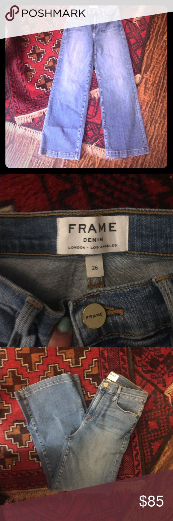 NWT FRAME DENIM cropped flare NWT!!! FRAME DENIM culottes in midland blue. Frame Denim Jeans Ankle & Cropped