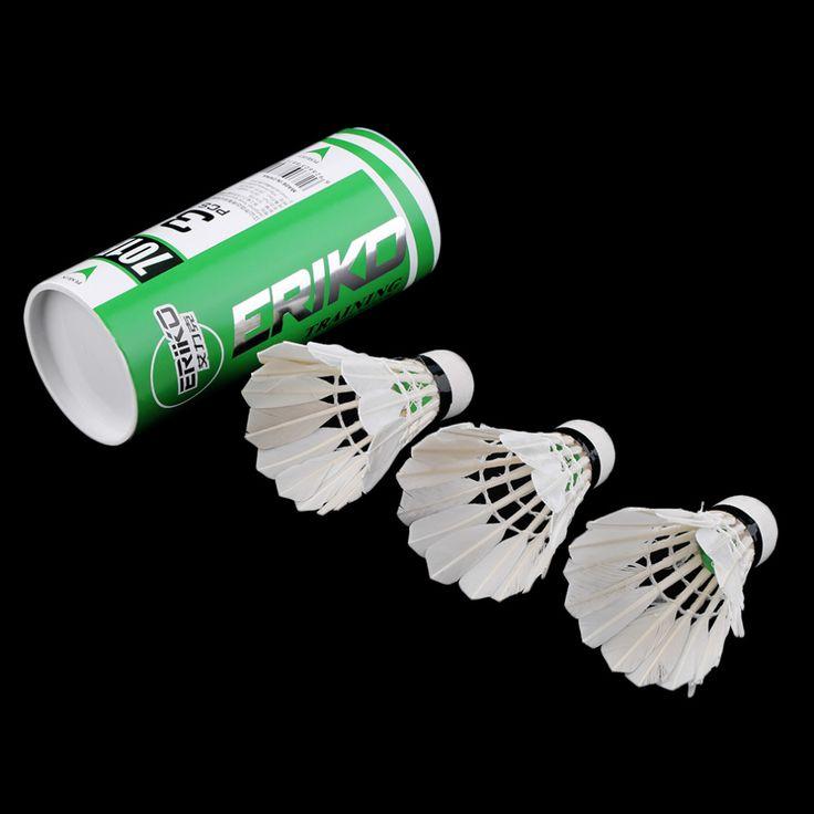 3ピーストレーニング白いアヒルの羽バドミントンシャトルコックバーディー球技スポーツエンターテイメント製品バドミントンボールで缶