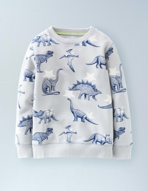 For Deacon - Dino Jumper that is tasteful not tasteless - well done Boden Jurassic Sweatshirt 21876 Sweatshirts & Fleeces at Boden