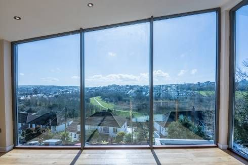 Mallards View, Devon: Modern Living room by Trewin Design Architects
