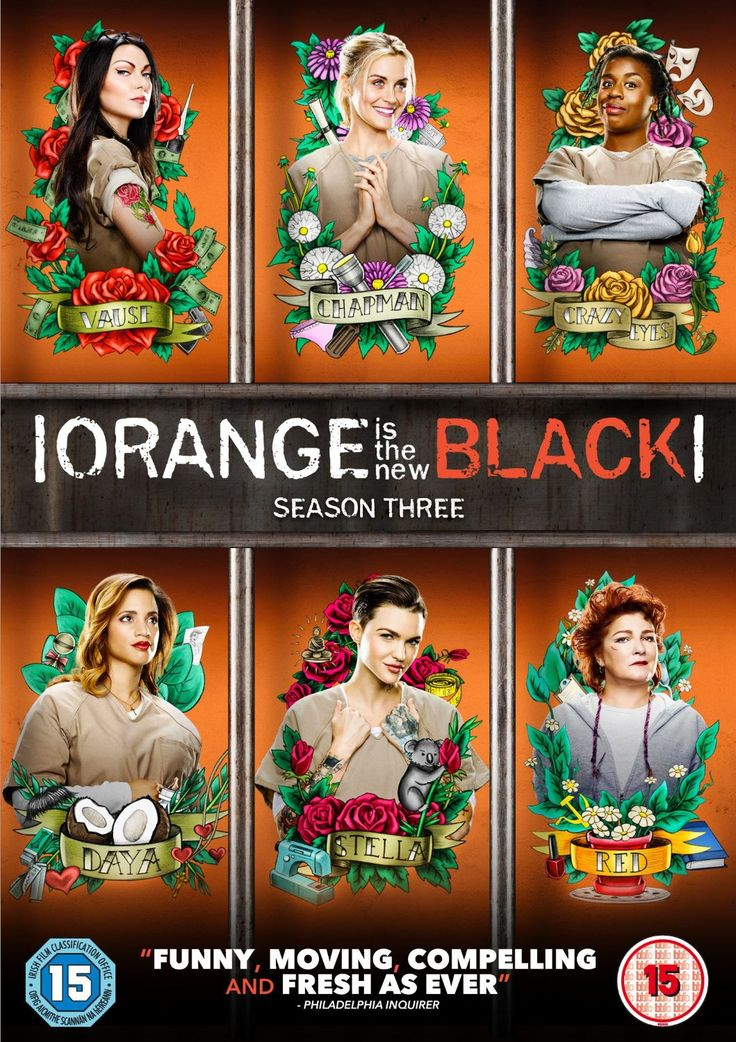 "Orange Is The New Black: Season 3 (2015) starring Taylor Schilling, Laura Prepon, Jason Biggs, Kate Mulgrew, Michael Harney, Natasha Lyonne, Danielle Brooks, Taryn Manning, Laverne Cox, Uzo Aduba, Yael Stone and Barbara Rosenblat. ""The story of Piper Chapman, a woman in her thirties who is sentenced to fifteen months in prison after being convicted of a decade-old crime of transporting money for her drug-dealing girlfriend."""