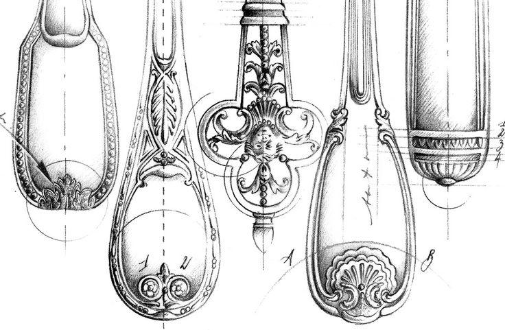 illustration couverts argenterie CHRISTOFLE Florence Gendre #illustration #design #Christofle
