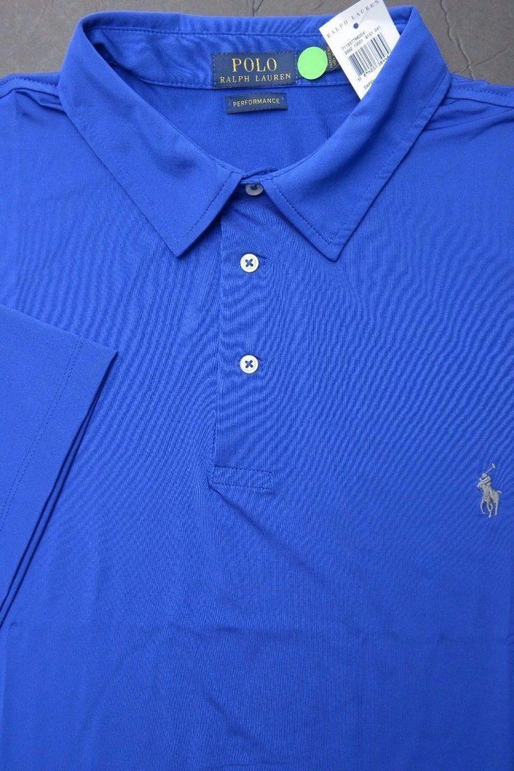 Polo fashion pas cher polo ralph lauren femme france polo de marque - Nwt Polo Ralph Lauren Men S Blue Poly Sport Polo Shirt Big Tall 2xlt