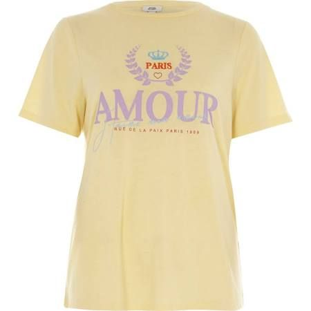 RIVER ISLAND YELLOW AMOUR TEE - Google Search