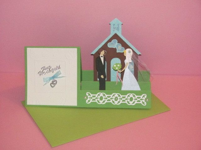 Hochzeitskarten - Originelle 3D Glückwunschkarte zur Hochzeit - ein Designerstück von Wonderful-Paper-Art bei DaWanda
