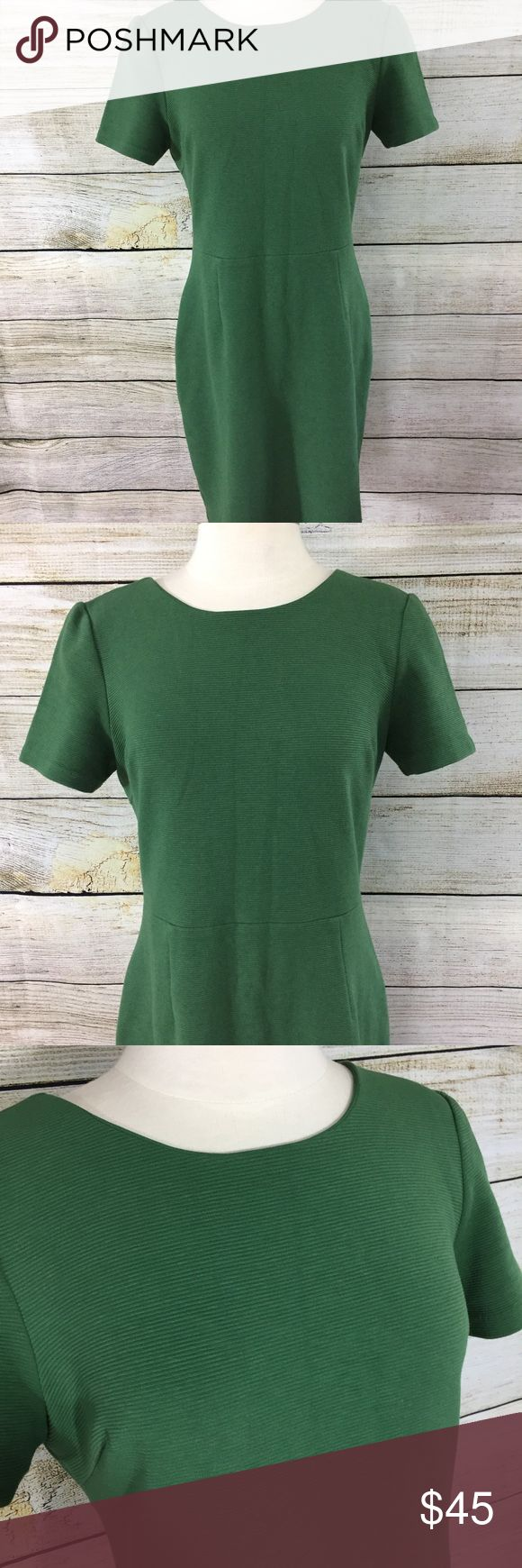 Boden Green Dress Size 10 petite. Low back. Green ribbed Knit material. Nice condition! Boden Dresses