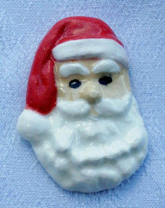 Santa+Pin+by+BallsBeadsandPottery+on+Etsy,+$4.00