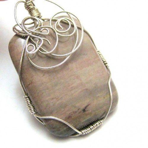 52 best jewelry petrified wood images on pinterest petrified pinterest jewelry making wire wrapped petrified wood pendant metalwork jewelry making aloadofball Images