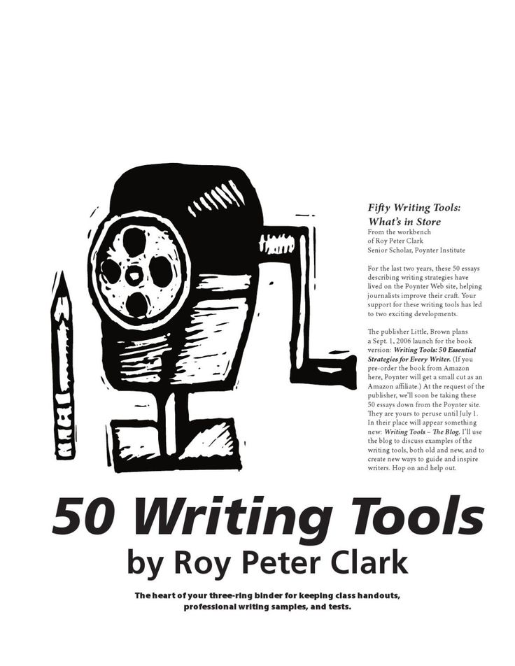 #ClippedOnIssuu from 50 Tools by Roy Peter Clark