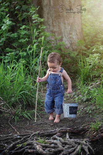 Heading to the fishing hole  Connor David 15mo  Toddler Boy photography  Southern Oregon  Jennifer Sharp Photography