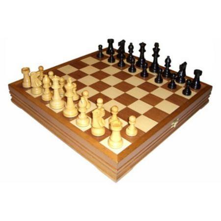 Rover Time RTC-2715  — 9647 руб.  —  Шахматы классические деревянные 43х43 см Rover Time RTC-2715. Шахматы классические стандартные деревянные утяжеленные - Фигуры выточены вручную: св?...