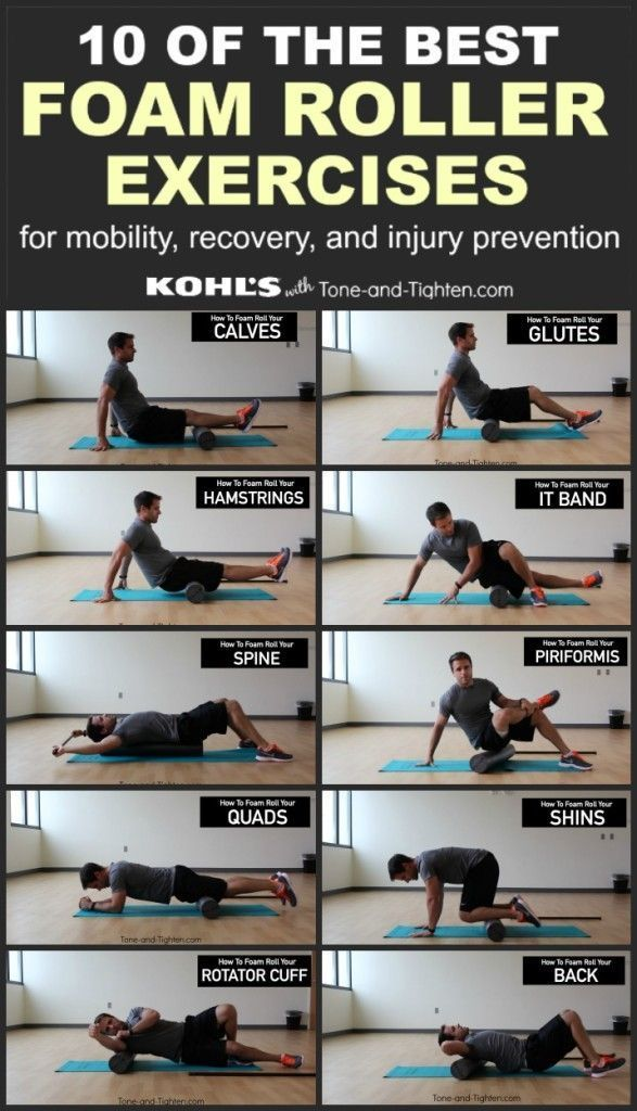 10 of the best exercises you can do with a foam roller. From the physical therapist at Tone-and-Tighten.com Employee motivation,motivation