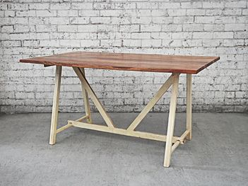 This 8 seater retro kitchen table is a unique and charismatic alternative. The industrial finishes bring a slightly rugged fell to this table.
