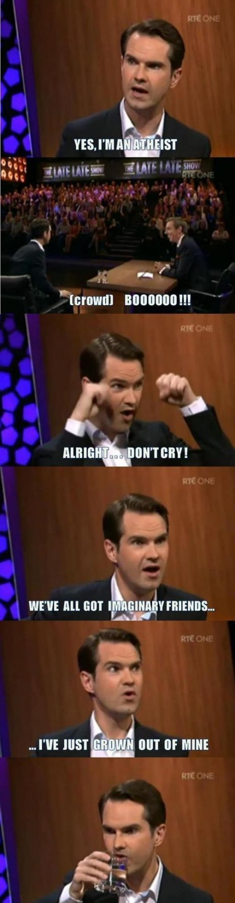 You know Jimmy Carr is gonna lay one down on the audience...