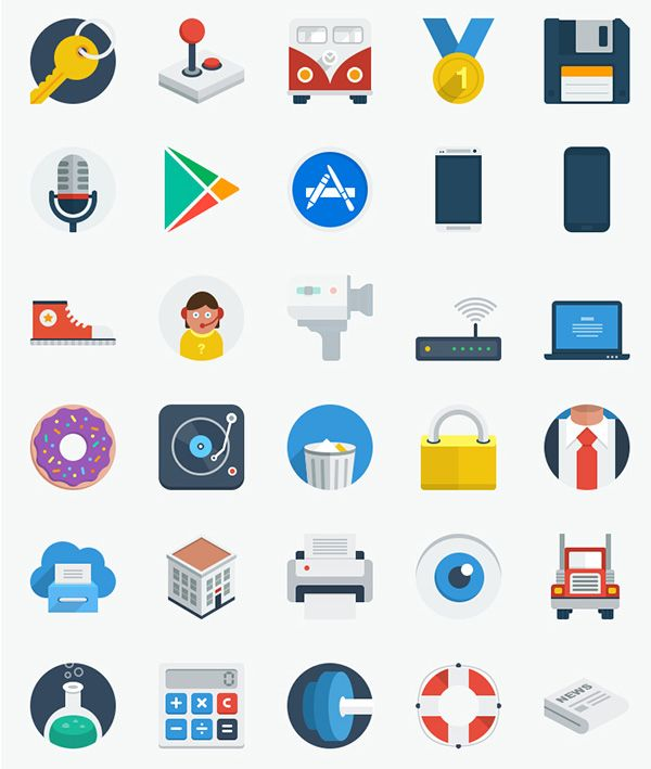 We wrote about flat icons before, but today we will take a look at free flat PSD icons only, so you can download them and also customize their raw files, instead of just using them as they were intended to.