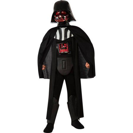 Deluxe Light-up Darth Vader Child Halloween Costume, Boy's, Size: Small, Black