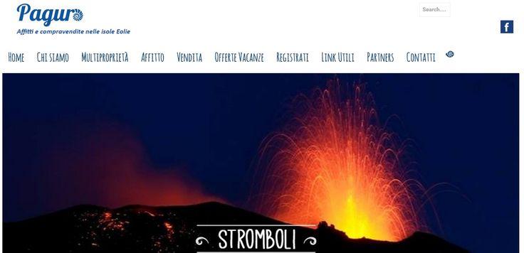 Sito web realizzato con Wordpress per Paguro, affitta e vendita case vacanza nelle Isole Eolie, Sicilia