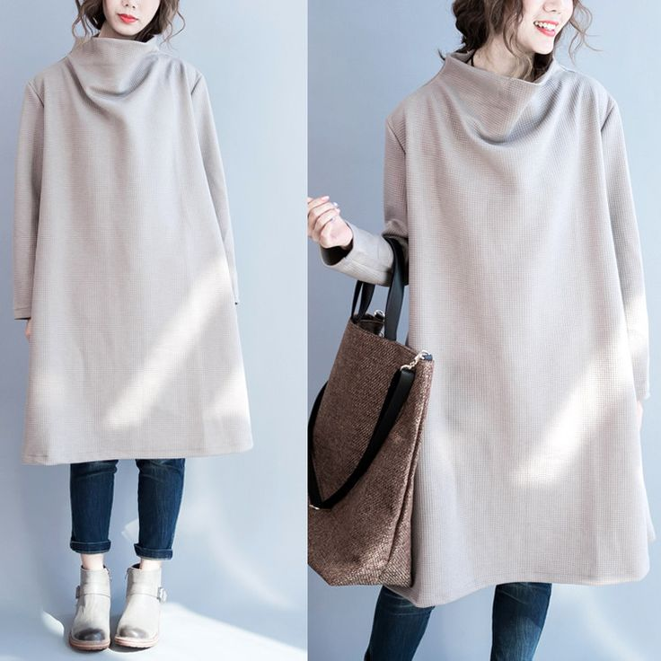 Women cotton loose long sleeve winter top - Tkdress  - 1