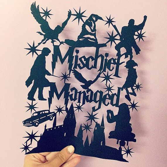 Mischief Managed  Harry Potter  Original by thedaydreamprincess