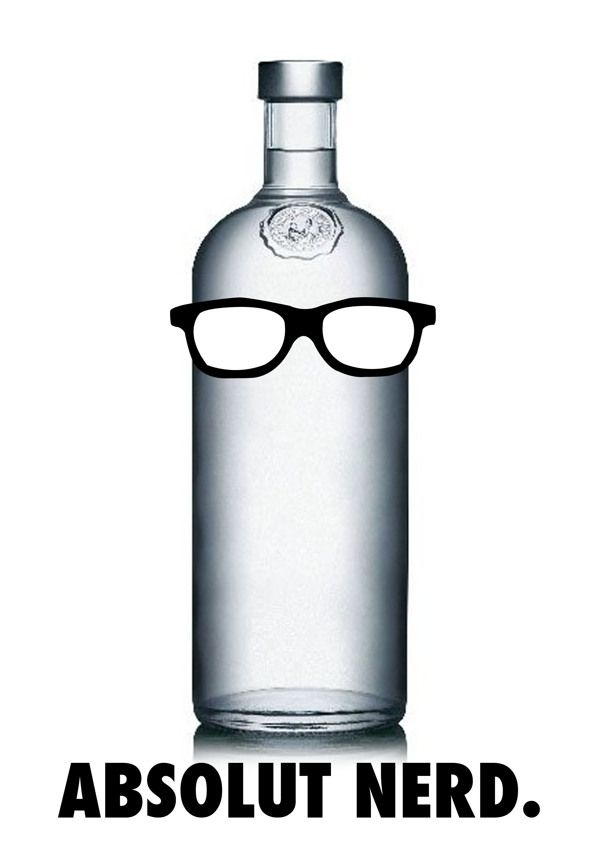 ABSOLUT NERD by Sophie Ormsby, via Behance