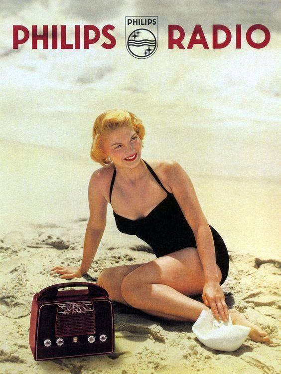 Carteles antiguos de publicidad- Philips Radio 1960