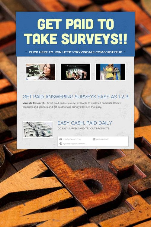 GET PAID TO TAKE SURVEYS!! | Online Marketing Group | Pinterest