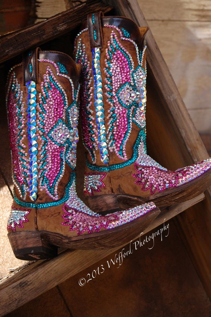 Our World Famous Swarovski Boots. Handmade by Jacqi Bling!