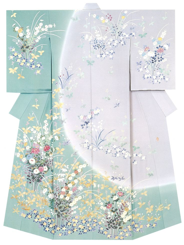"Beautiful Kimono - material dyeing known as "" Kagayuzen dyeing """