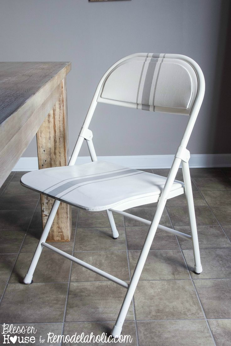 Painted Folding Chair Makeover | for when folding chairs are a must.  Remodelaholic.com