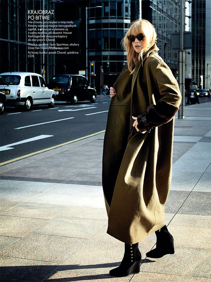 Dasha Z. Takes the Military Trend to the Streets for Elle Polands November Issue
