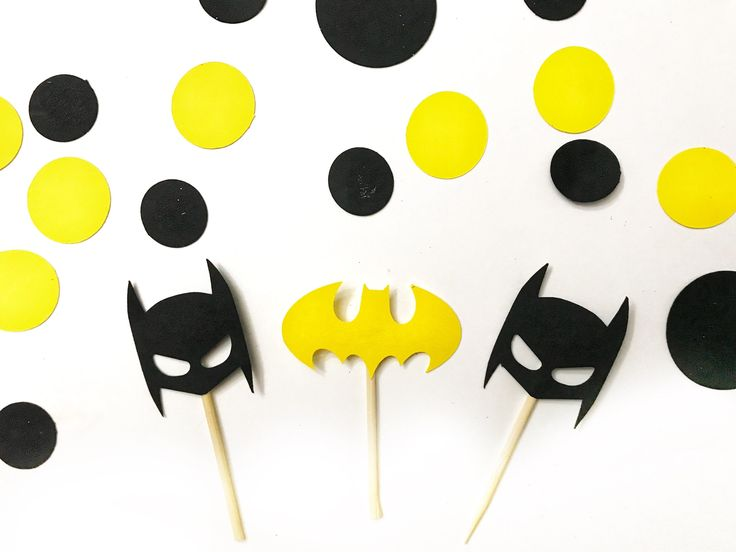 Excited to share the latest addition to my #etsy shop: Batman cupcake toppers, superhero cupcake toppers, batman party supplies, batman birthday supplies, batman decorations, lego batman toppers