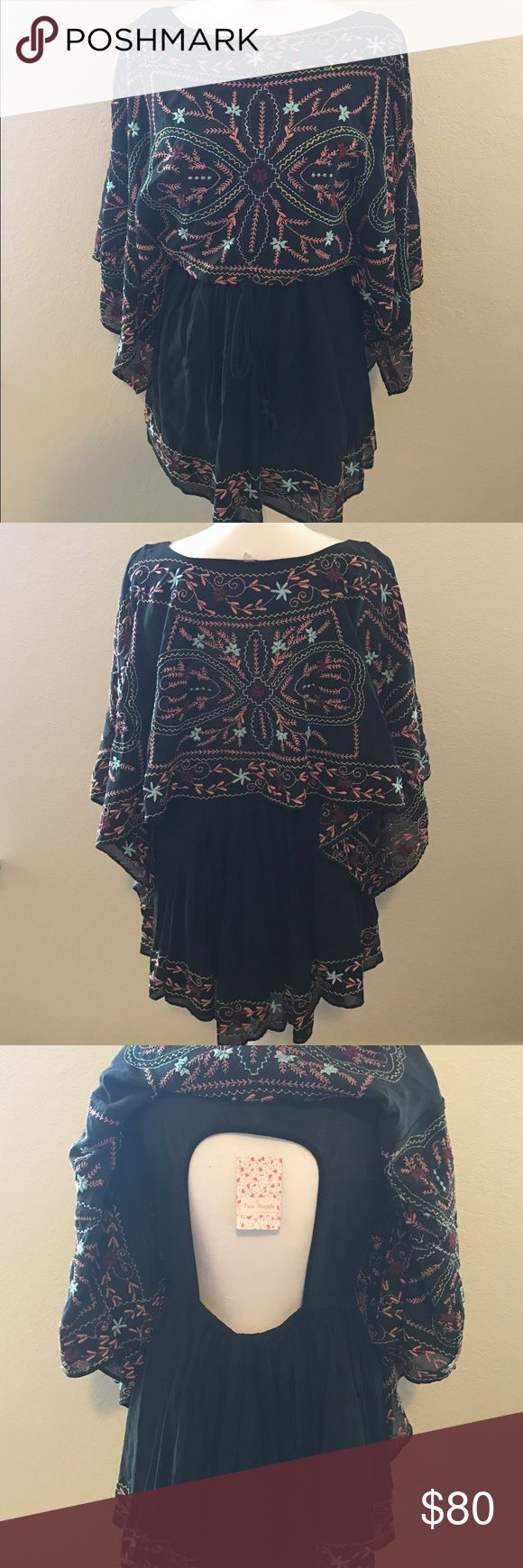 Selling this NWT Free People Black Frida Embroidered Dress XS on Poshmark! My username is: laurynd. #shopmycloset #poshmark #fashion #shopping #style #forsale #Free People #Dresses & Skirts