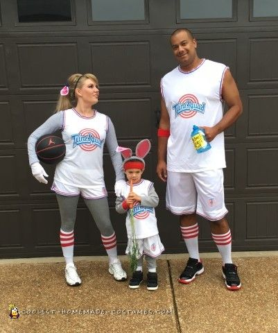 We came up with this homemade Space Jam family costume idea because our three year old son, Jayden LOVES Space Jam & loves basketball! We think we...