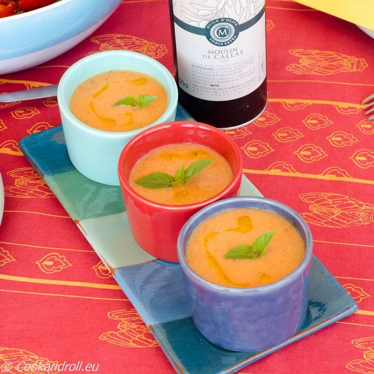 Gazpacho andaluz recette plat froid recette recette facile et cuisiner les l gumes - Cuisiner le bar ...