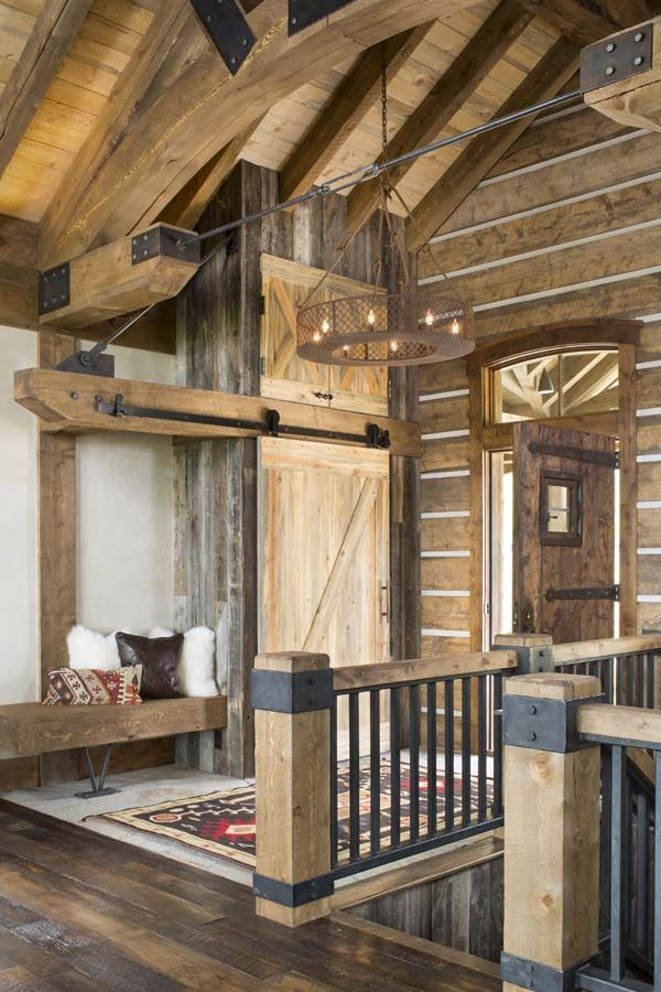 A colorado ranch style home is a haven of rustic warmth - Pictures of ranch style homes interior ...