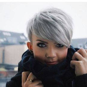 Short Silver Pixie Hair