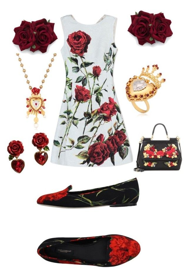 """Untitled #24"" by evelin-pap on Polyvore featuring Dolce&Gabbana, women's clothing, women, female, woman, misses and juniors"