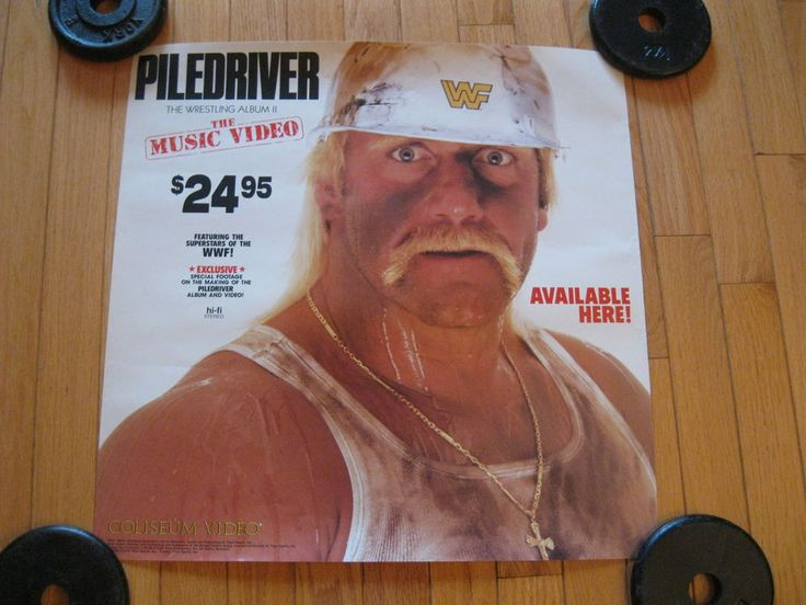 Rare-1980's WWF WWE Coliseum Music Video Store Display Promo Poster-Hulk Hogan