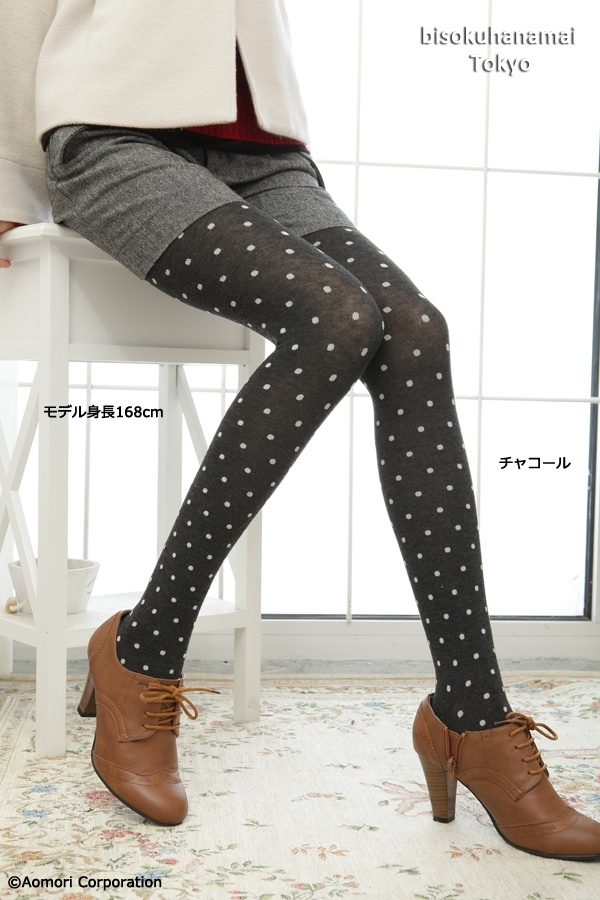 Bulky Tights Dot 350JPY