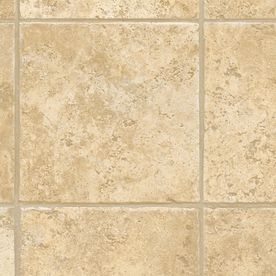 Lowes Ceramic Tile Flooring >> domco Casa Grande Beige 8-Ft x 12-Ft Pre-Cut Sheet Vinyl ...