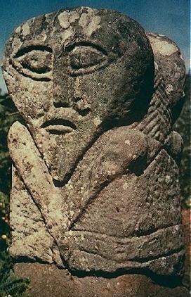 Celtic Figures  Boa Island, Ireland    I love these aged stone megaliths!