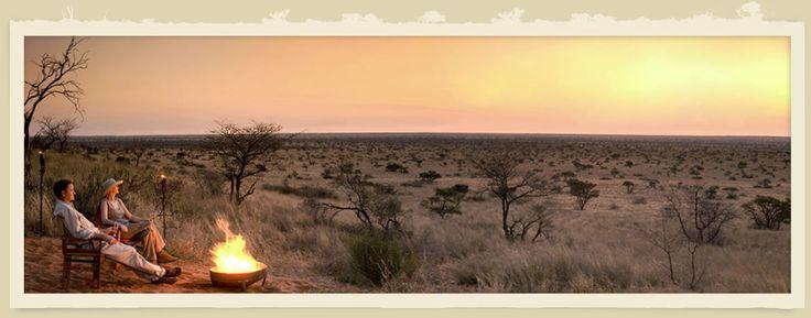 Evening fire at Tswalu