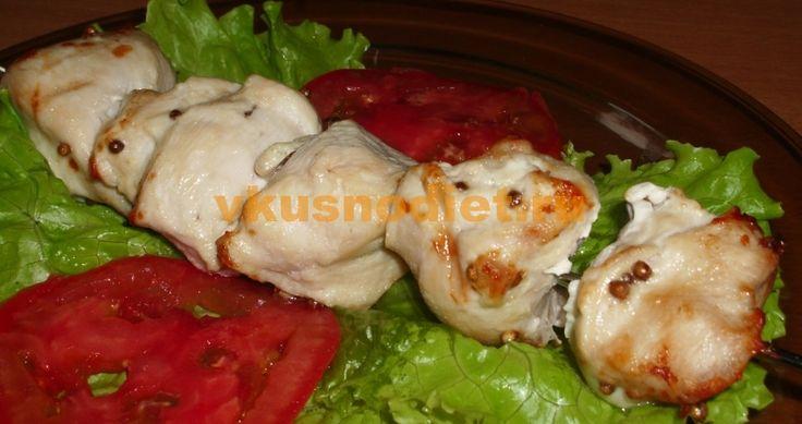 Куриный шашлык в аэрогриле, приготовленный по аналогии с традиционным шашлыком на мангале в домашних условиях. Рекомендован для здорового питания.