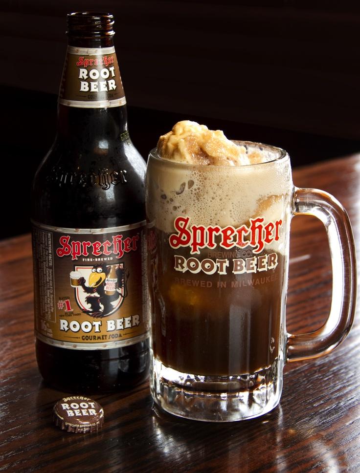 Wisconsin Root Beer Float with Sprecher Root Beer and Cedar Crest Ice Cream