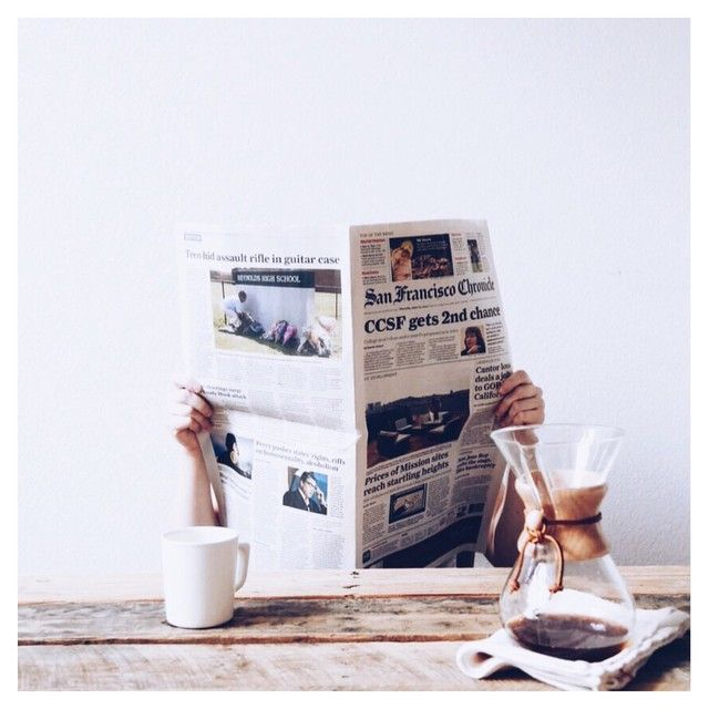 coffee & newspapers | TLNIQUE