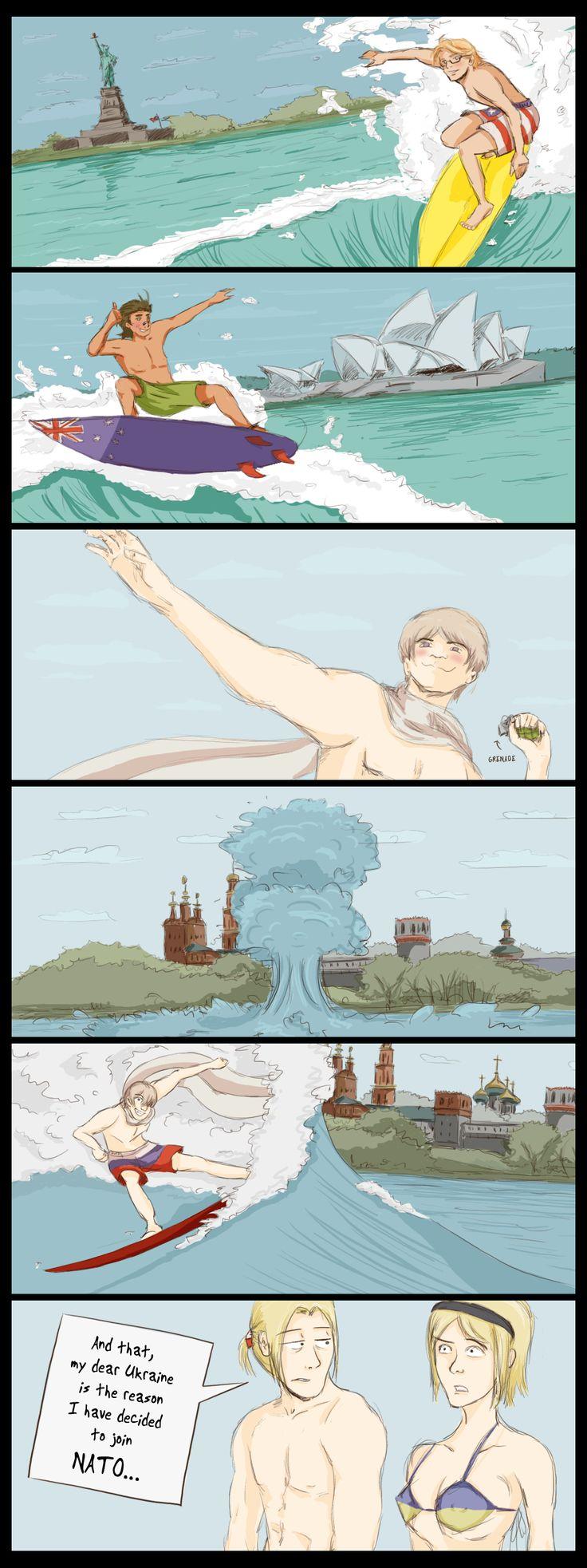 "Oh my God RUSSIA. (""Surfing by SoundOfColor.deviantart.com on @deviantART"")"