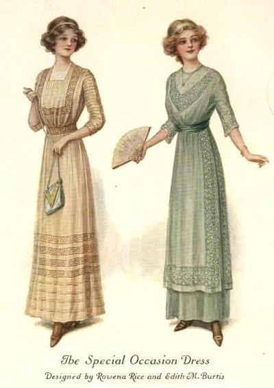 Vestidos para ocasiones especiales. 1911